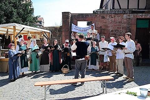Allegro Büdingen auf dem Mittelalterfest 2017 in Büdingen